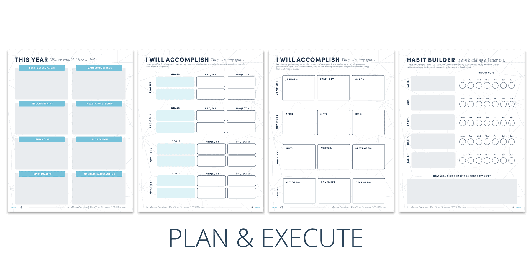 Plan for Success 2021 Planner | Plan & Execute Your Success